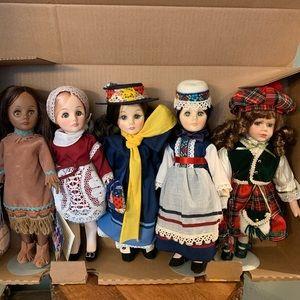 Vintage Effanbee Doll Lot, Porcelain Scottish doll